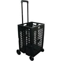 Pack & Roll Wheeled Folding Mesh Cart Basket Grocery Shopping Laundry Multi-use