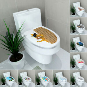 DIY Wand Aufkleber WC Toilette Sitz Abziehbilder Entfernbare Vinyl ...