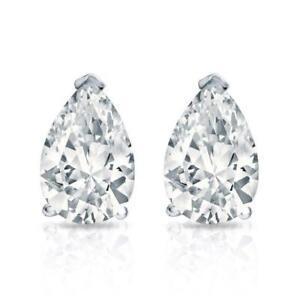 1//2-2ct,AAA Quality 14k Yellow Gold Oval Diamond Simulant Stud Earrings