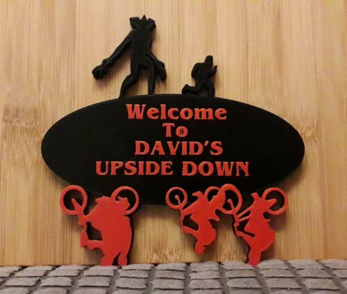 3D Printed Stranger Things Door Sign Wall Plaque Personalised