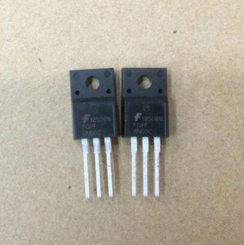 5 pcs FQPF8N60C 8N60 TO-220F N-MOSFET FSC 159A