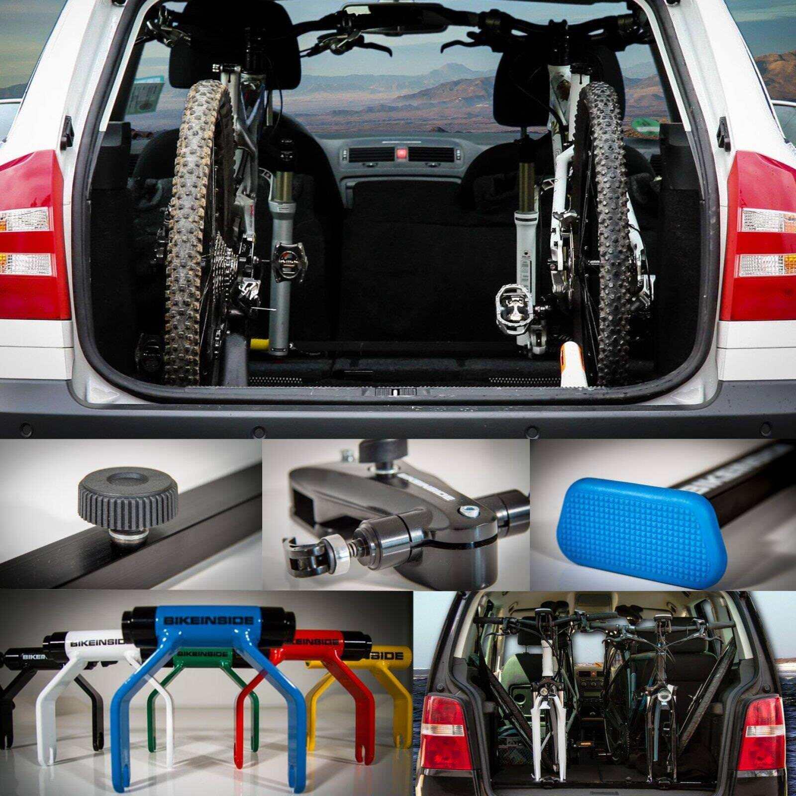BikeInside Fahrrad Träger Halterung Transport Schnellspanner Set Kofferraum Auto