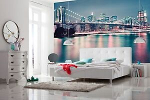 Wallpaper New York city skyline wall mural 368x254cm living room