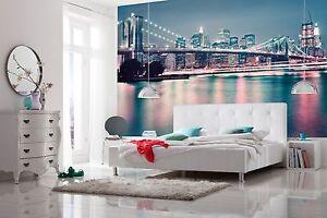 Wallpaper New York city skyline wall mural 368x254cm living room ...