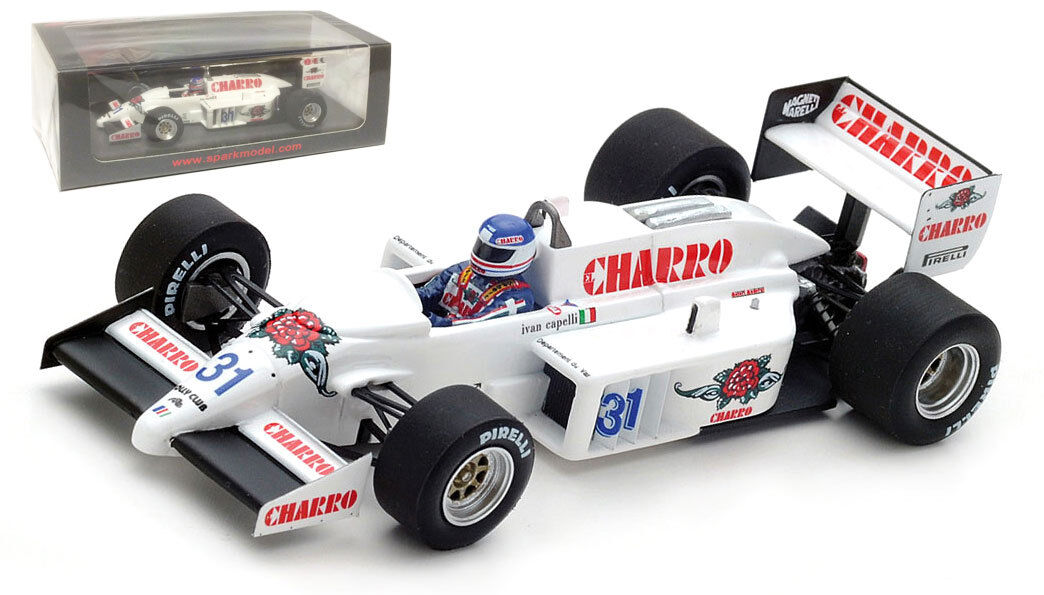 Spark S4772 AGS JH21C Italian GP 1986 - Ivan Capelli 1 43 Scale