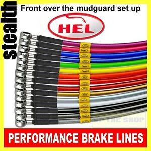 Triumph Street Triple R 675 201011 HEL Stainless Brake lines hose kit Crossover - Nutfield, United Kingdom - All sales are covered by a return/refund guarantee. All items may be returned within 14 days of receipt and a full refund will be issued.In the unlikely event that a return is requested, all returns must include all original ite - Nutfield, United Kingdom