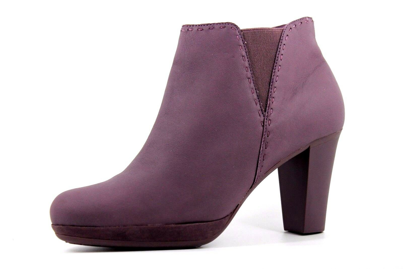 Camper Ariadna Alto Womens UK 7 EU 40 US 10 Mauve Leather Lara Flint Ankle Boots