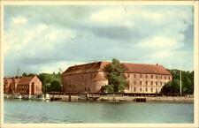 Sønderborg Danimarca cartolina ~ 1950/60 sguardo sull'acqua sulla serratura slot
