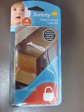 SAFETY 1ST Press N/' Pivot Latch 4-Pack 48446 NEW