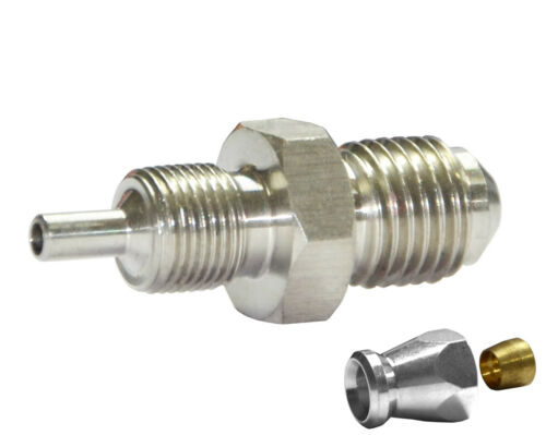 """Male Bulkhead Fitting for AN-3 3//16/"""" PTFE  Brake Hose System End UNF /& Metric"""