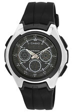 Casio Men's Auto-Illuminator World Time 100m Yacht Timer Resin Watch AQ163W-1B1