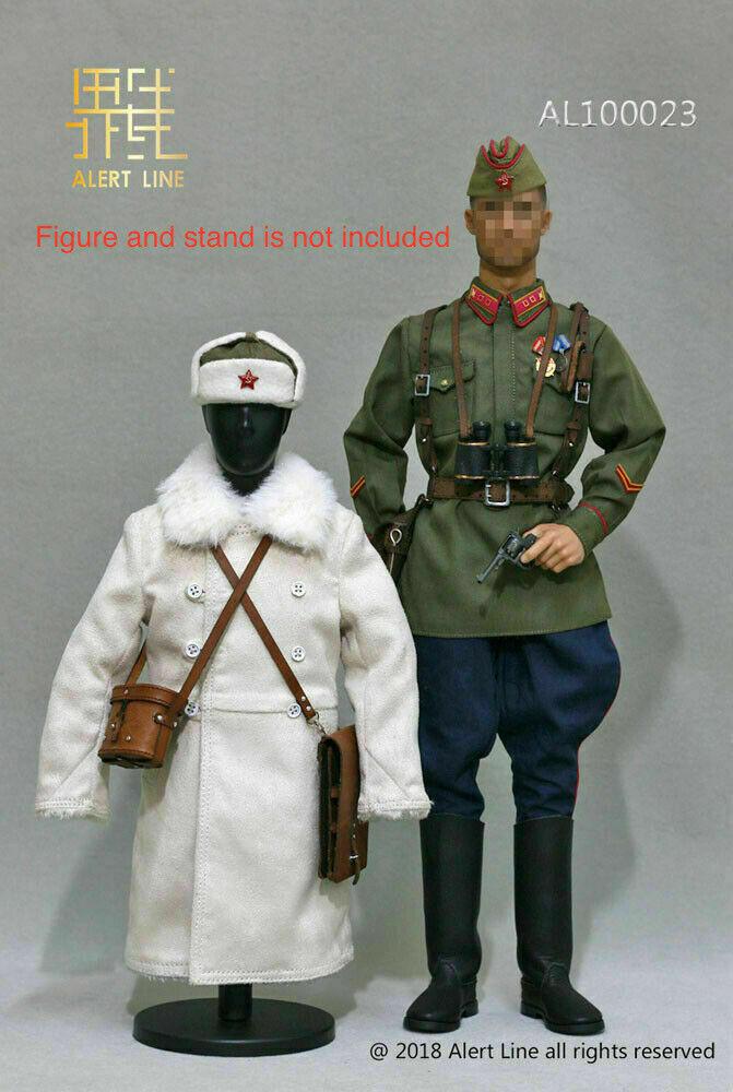 Alerte ligne 1 6 WWII 1942 rouge Army Infantry Lieutenant Officier Costume AL100023