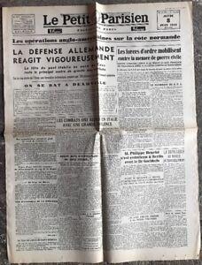 N47-La-Une-Du-Journal-Le-Petit-Parisien-8-Juin-1944