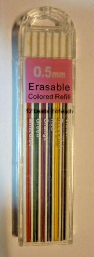 1 Box 0,5 mm 6 farbige Druckbleistift Feinmine Mine 12 Minen