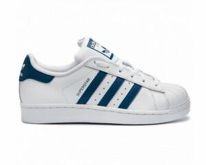 Details about Adidas Originals Superstar J F34163 Leather Boys Trainers White Girls Shoes