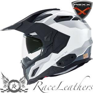 Nexx Xd 1 Baja Blanc Moto Adventure Touring Dual Sport Casque