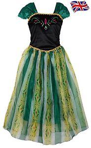 UK-Seller-Sale-Pretty-New-Adult-Anna-Princess-Green-Fancy-Dress-Costume-UK-6-14