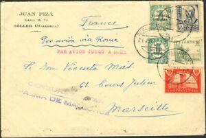 España. War Civil. Bando Nacional Mail Aéreo. War Civil. Bando