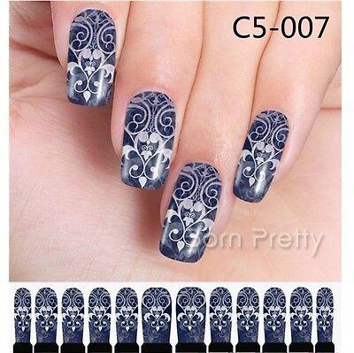 14pcs/Sheet Flower Full Nail Art Sticker Wraps Charm Manicure Decoration