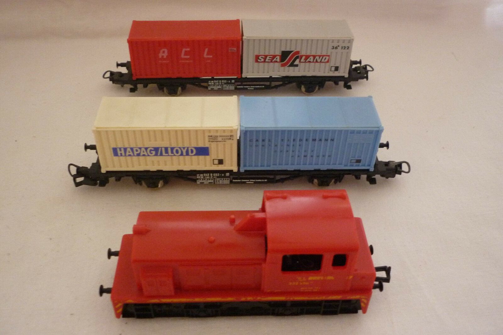 Lima - gauge H0 - Locomotive with 2 Freight Car - SEE PHOTOS - (6.ei-88)