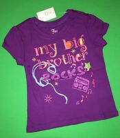 -new my Big Brother Rocks Little Girls Graphic Sister Shirt 2t Sibling Gift Ss