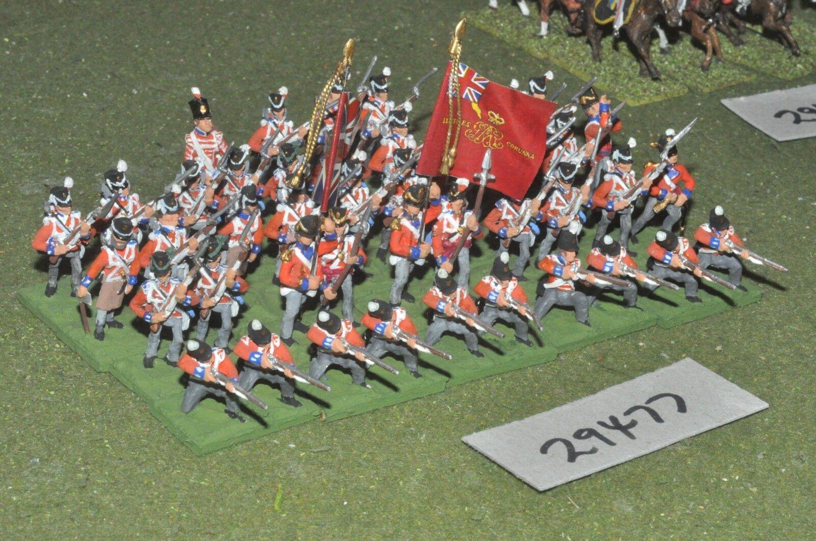 25mm napoleonic   british - line 44 figures - inf (29477)