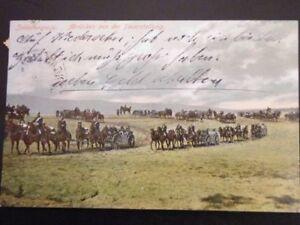 Feldpost Karte - Abrücken aus der Feuerstellung 1910
