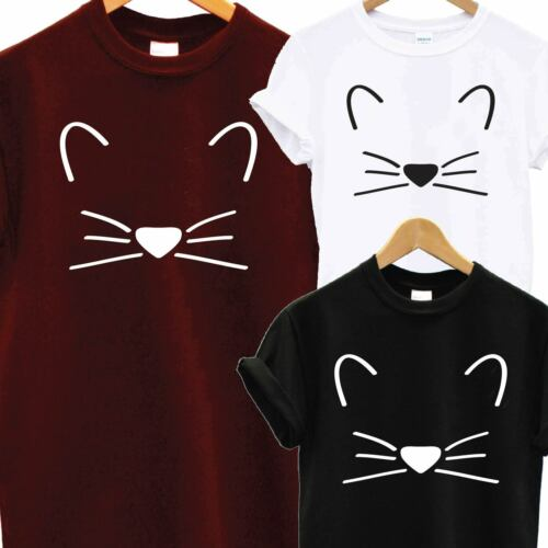 CRAZY CAT MEOW ANIMAL LOVER KITTEN T SHIRT GIFT PRESENT FUNNY HUMOR FASHION TEE