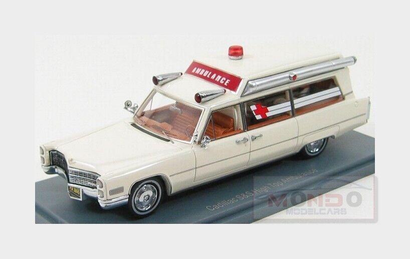 Cadillac s & s krankenwagen ambulanza 1966 weiße neoscale 1 43 neo43895 modell