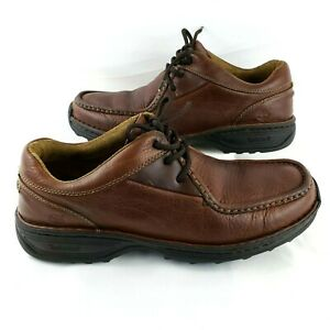 Timberland-Smart-Men-039-s-Shoes-Siz-10M-Brown-Leather-Comfort-Oxford-Lace-Up-Casual