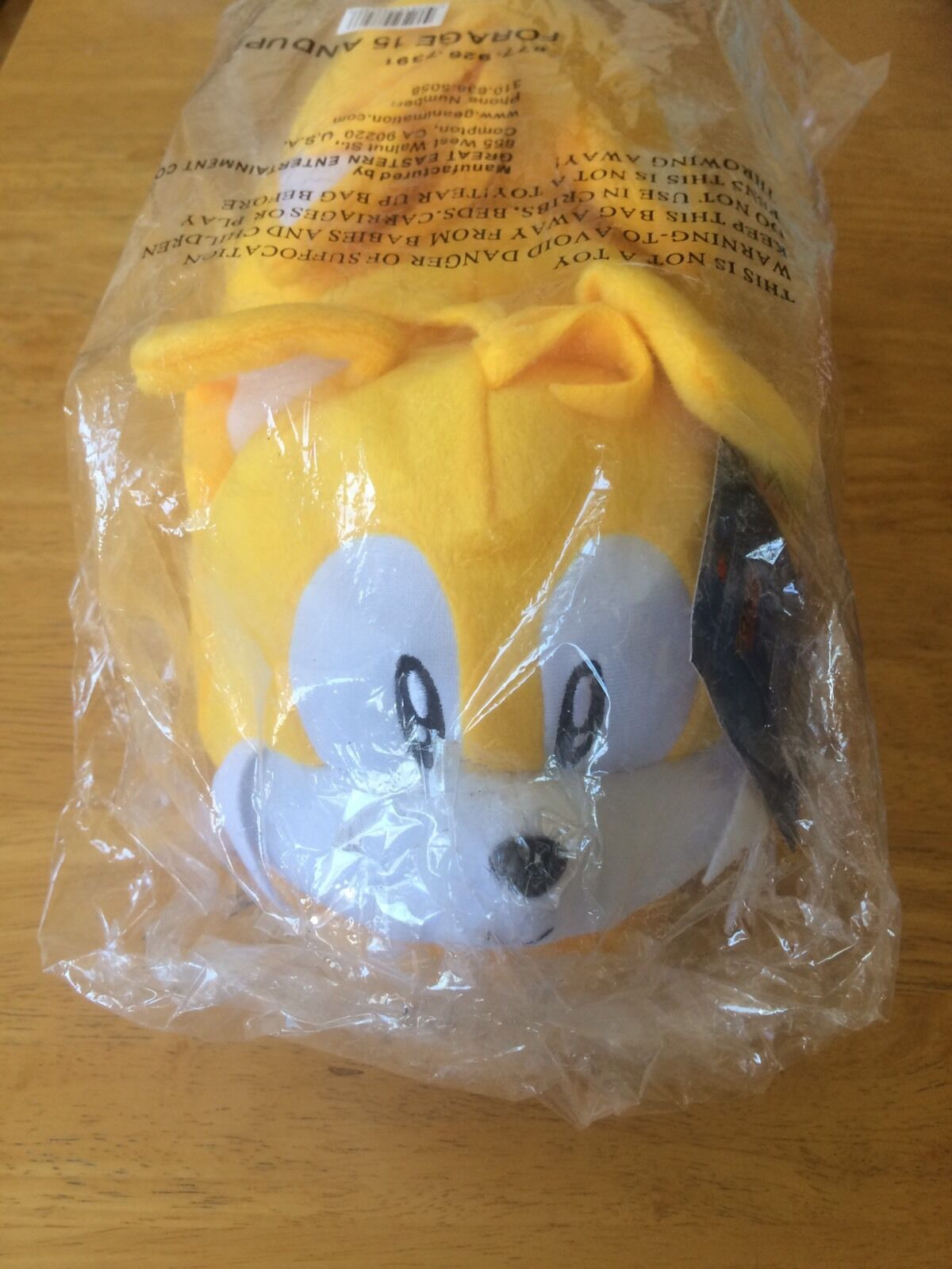 Sonic The Hedgehog Tails Slippers GE Brand Brand Brand New, Factory Sealed 72a934