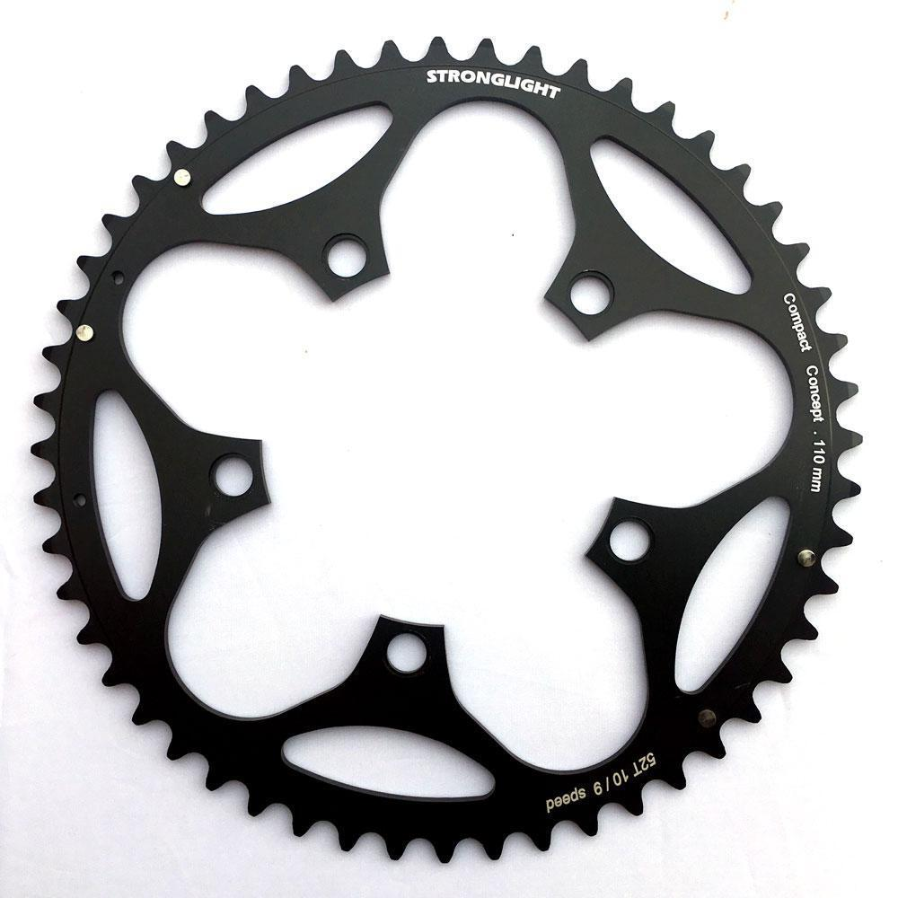Stronglight Dural 5083 9//10 Speed Chainring 110mm BCD All Sizes