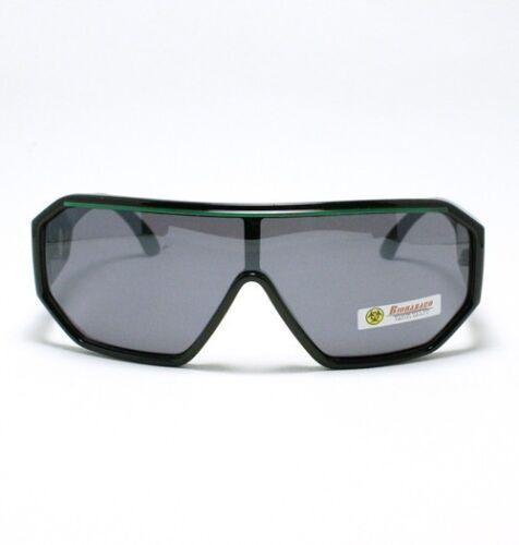 ROBOT Sunglasses for Men Futuristic Celebrity Flat Top BLACK Color Stripes New