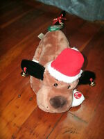 Dan Dee Christmas Holiday Jingle Bells Musical Dancing Dog Lights Up Moves Mwt