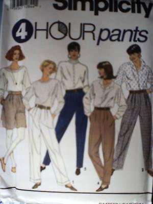 7941 UNCUT Vintage 1990/'s Simplicity Pattern Misses 4 Hour Pants Slacks SEW OOP
