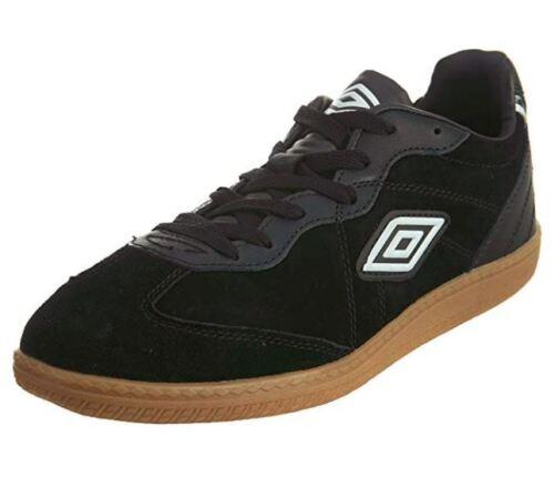 UMBRO MANCHESTER Noir//Noir//Gomme UML1007SD Soccer Intérieur Hommes Chaussures Baskets B