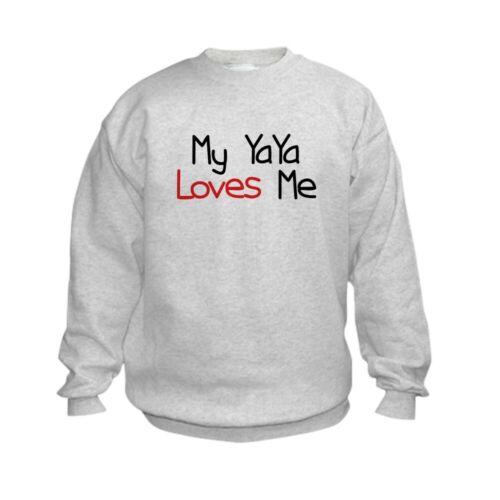 223719580 CafePress My Yaya Loves Me Kids Sweatshirt