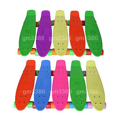 """SKATEBOARD CRUISER RETRO SKATE BOARD LONGBOARD COMPLETE 22/"""" PLANCHE À ROULETTES"""