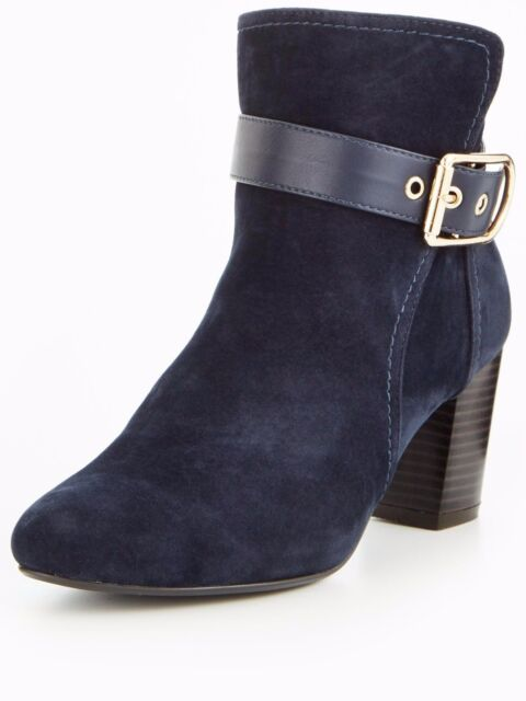 157a2811a7643 Wallis Amulet Buckle Heeld Ankle BOOTS Navy UK 5 EU 38 Js43 00 Salew ...