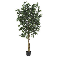 5' LARGE SMILAX SILK TREE WITH 1728 LEAVES-ARTIFICIAL-FICUS LOOKING-HOME/OFFICE