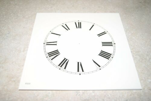 ONE PAPER DIAL 5 INCH TIME TRACK ROMAN NUMERAL IVORY COLOR DIAL