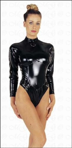 Extravagant Vinyl Bodysuit with Zip black Lingerie