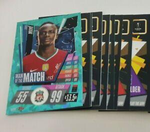 2020/21 Match Attax UEFA - Lot of 20 cards inc Man of the Match Sadio Mane