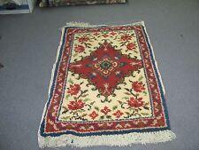 """Latch Hook Rug 29"""" x 44 Unused Persian Carpet  Handmade Wool"""
