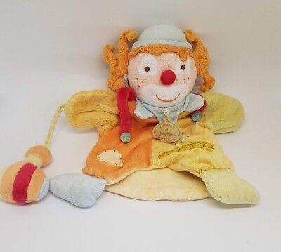 Doudou et Compagnie clown marionnette Le rire Medecin jaune orange