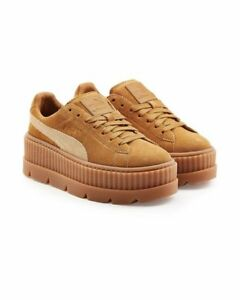 new product c2f4b 12925 Details about $160 NWT Women's Puma FENTY SUEDE CLEATED CREEPER WOMEN'S  366268-02 Brown