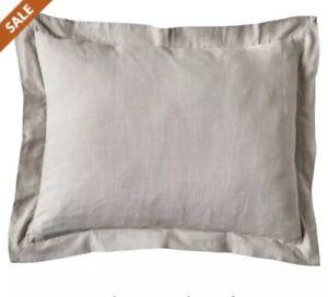 Details About Eva Shockey Collection Gray Linen Euro Pillow Sham 27 X Excursion Ca1723e2