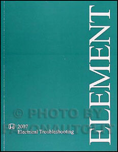 2007 honda element electrical troubleshooting manual wiring diagrams rh ebay com 2007 honda element radio wiring diagram