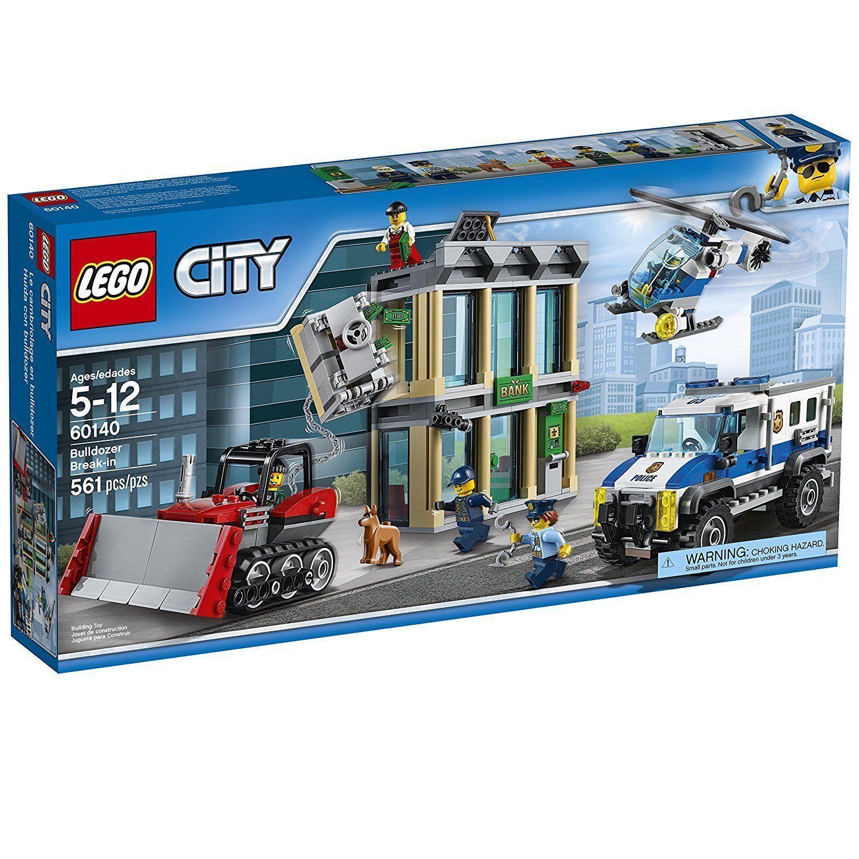 60140 Bulldozer asalto Ciudad de Lego Set Ciudad nuevo helicóptero de la Policía Lego Camión