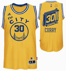 new styles 7f186 a0e0b Details about Golden State Warriors Hardwood Classic #30 Stephen Curry  Swingman adidas Jersey
